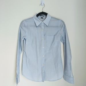 Light Blue Striped Theory Button Down Size P